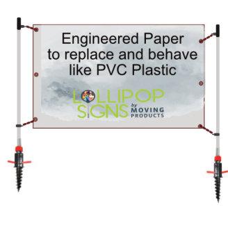 outdoor banner post set