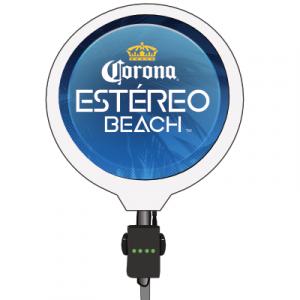 corona handheld event sign